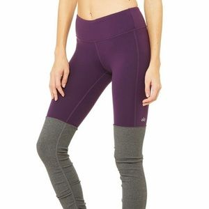 AloYoga Goddess Legging In Deep Plum/Burgundy